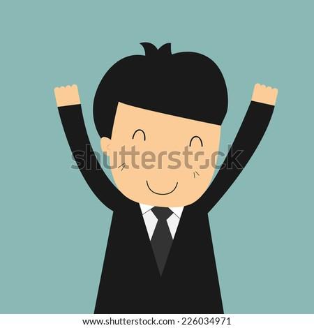 businessman happy - stock vector