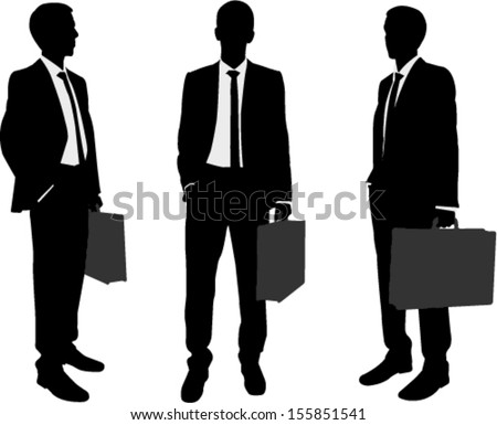 Open Briefcase Silhouette Briefcase Silhouettes