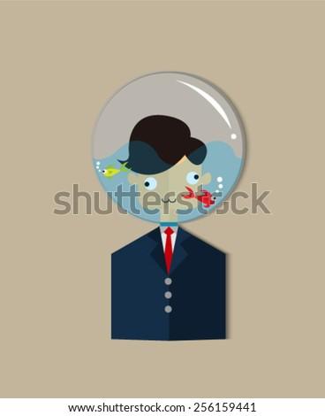 Businessman , Home Diver , vector illustration eps10 - stock vector