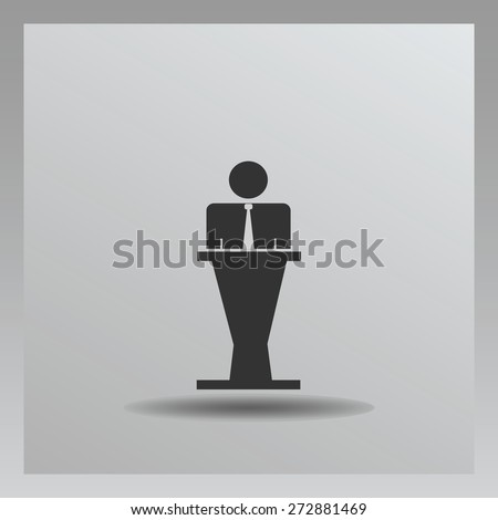 businessman icon, vector illustration. Flat design style. - stock vector
