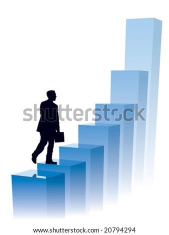 Businessman in a hurry, conceptual business illustration.