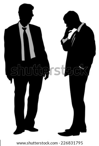 Businessman in suit on white background - stock vector