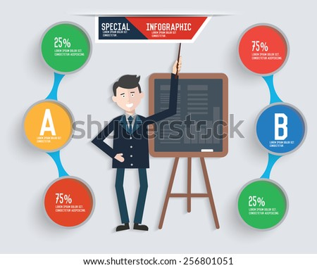 Businessman info graphic design,clean vector
