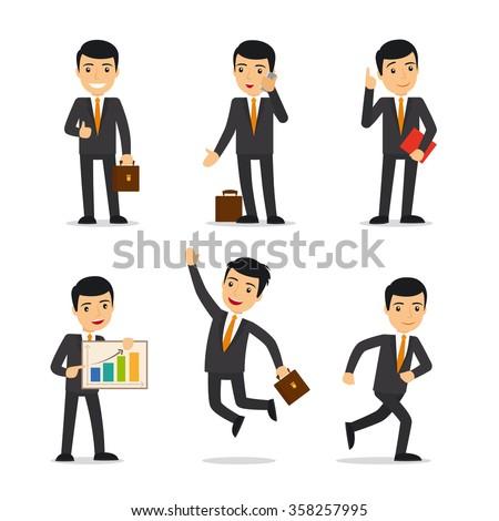 Businessman isolated vector - stock vector