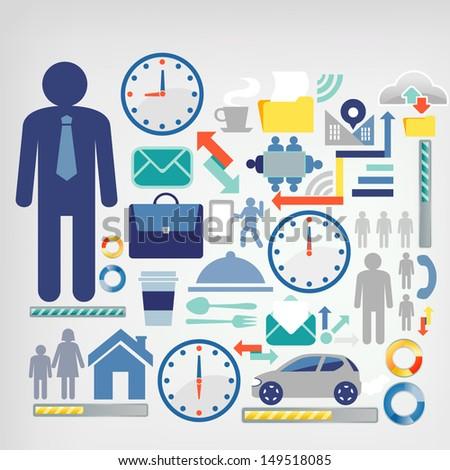 businessman lifestyle - stock vector