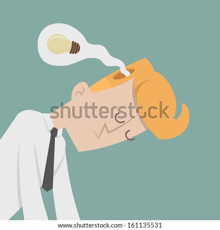 Businessman lose idea , eps10 vector format - stock vector