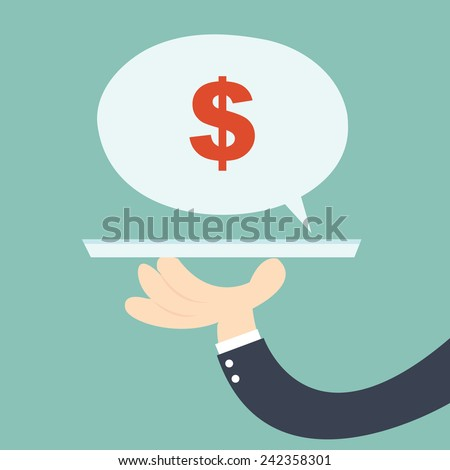 businessman offering a investment - Finding the right investment opportunity - stock vector