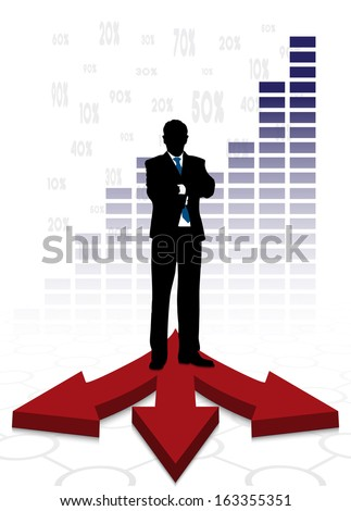 businessman on abstract business background