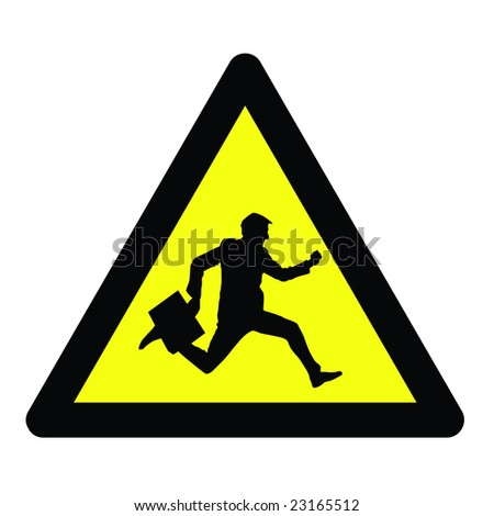 businessman on the road - stock vector