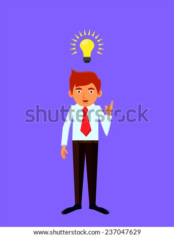 Businessman or student with an idea