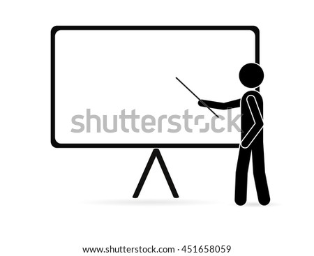 Businessman pointing at a board