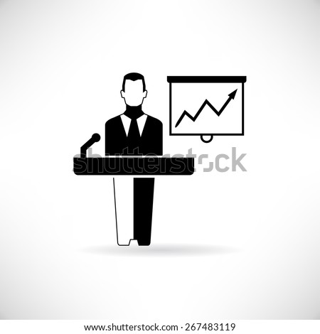 businessman presenting - stock vector