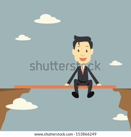 businessman relax in risk