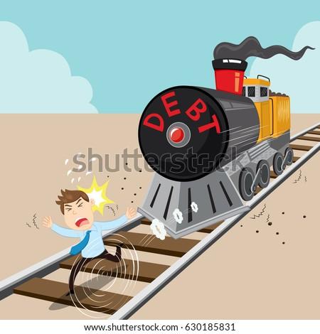 Image result for debt train