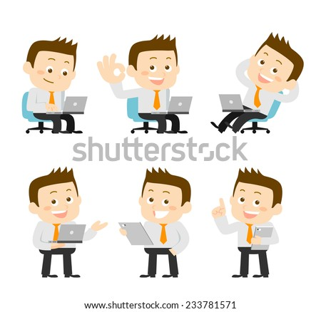 Businessman set - stock vector