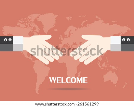 Businessman shaking hands  - stock vector