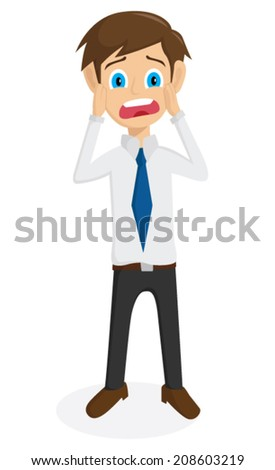 Businessman Shock Expression - stock vector