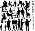 Businessman Silhouette Collection vector - stock vector