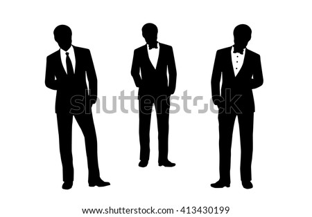 Businessman silhouette on white background