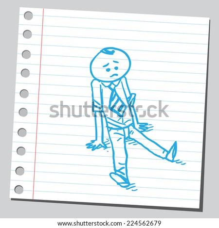 Businessman  siting on floor - stock vector