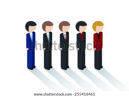 Businessman suit people characters set - stock vector