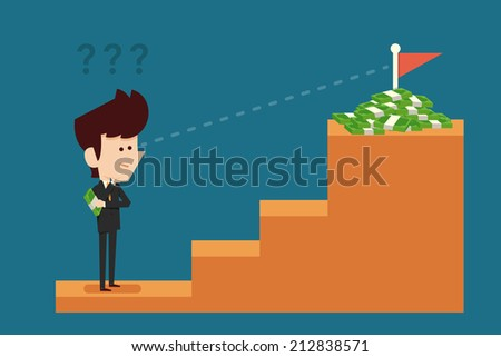 Businessman thinking about investment - stock vector