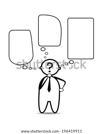 Businessman thinking .Concept of choice. business decision - stock vector