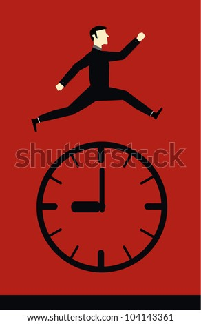 Businessman Time - stock vector