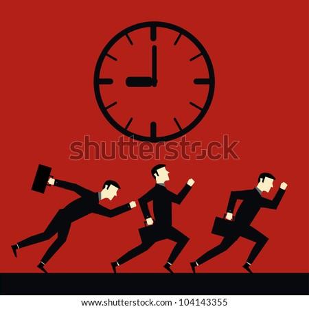 Businessman Time DeadLine - stock vector