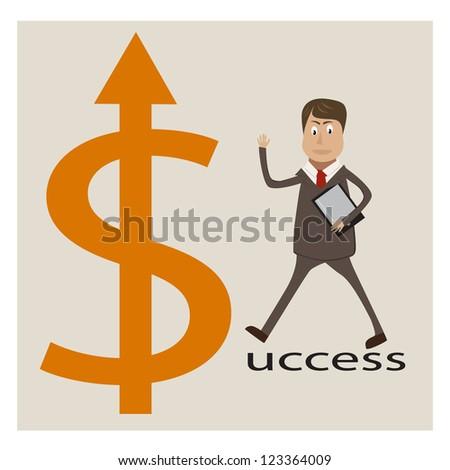 Businessman vector - stock vector