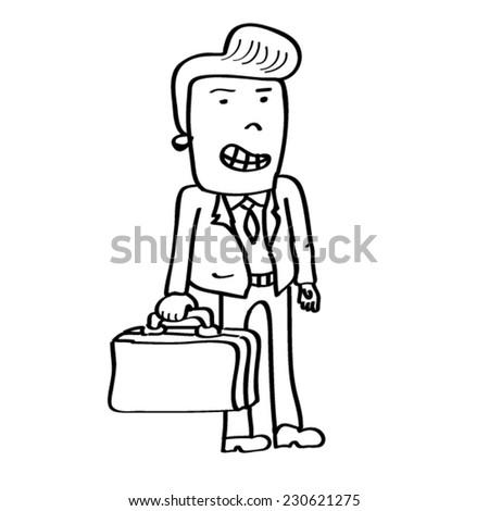 Businessman vector illustration - stock vector