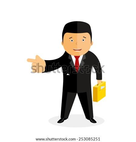 businessman,  vector illustration - stock vector