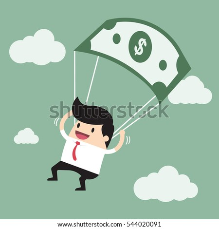Businessman with a long nose money on money as bait. vector