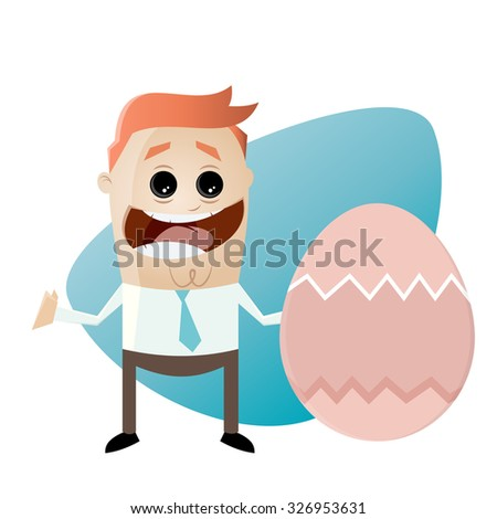 businessman with easter egg
