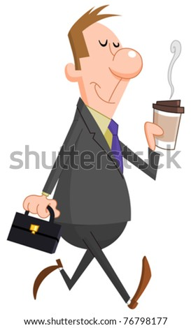 Businessman with paper coffee cup