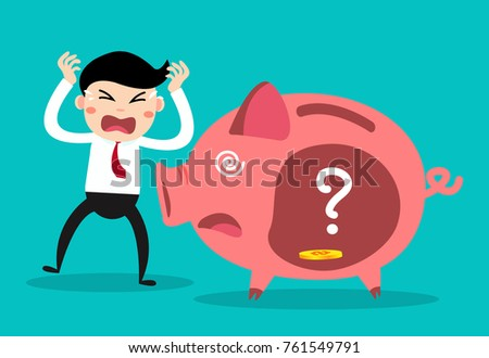Rich man poor man stock images royalty free images vectors businessman with piggy bank money savings concept sciox Images