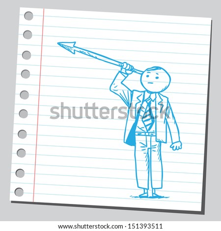 Businessman with spear