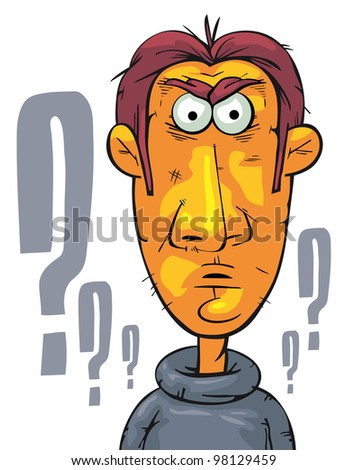 Businessman with straight face - stock vector