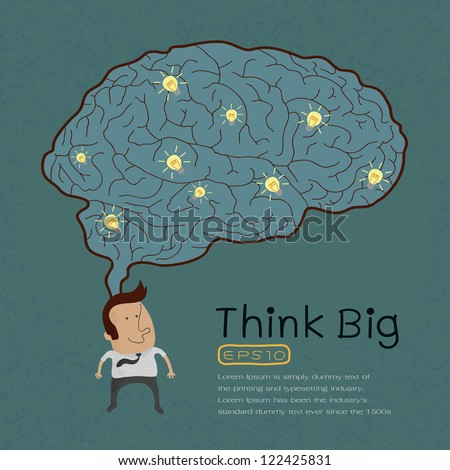 Businessman with Thinking big , eps10 vector format - stock vector