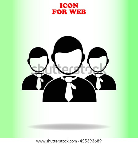 Businessmans web icon. Black illustration on white background