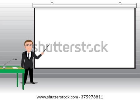 Businessmen are presenting blank board.