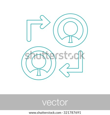 businessmen discussing icon - businessmen dialog speech - business transaction - business agreement - concept flat style design illustration icon - stock vector