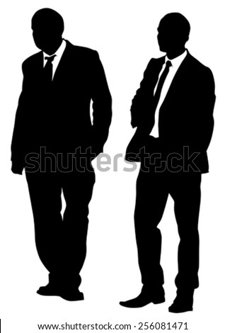 Businessmen in suit on white background - stock vector