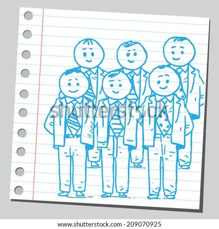 Businessmen management team  - stock vector