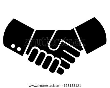 Businessmen shaking hands or handshaking - stock vector