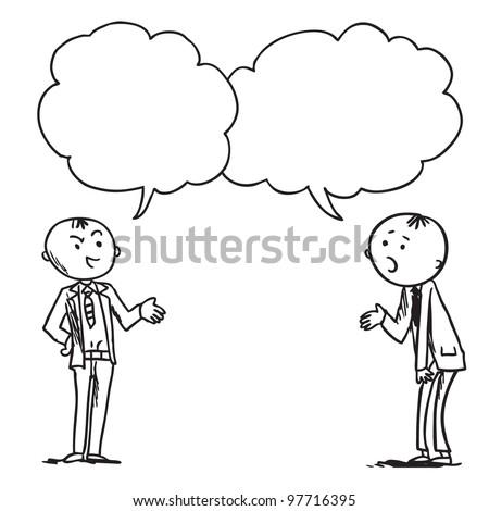 Businessmen speaking something - stock vector