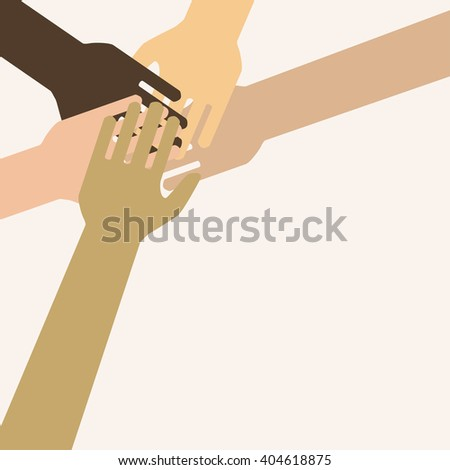 Businesspeople Colleagues Concept Success Collaboration Leader Flat Vector Illustration. teamwork. helping hand. Vector EPS 10 - stock vector