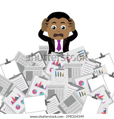 Businesspeople has a lot of works to do - stock vector