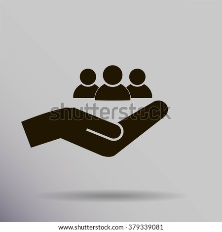 Businesspeople icon - teamwork & relationship concept - stock vector