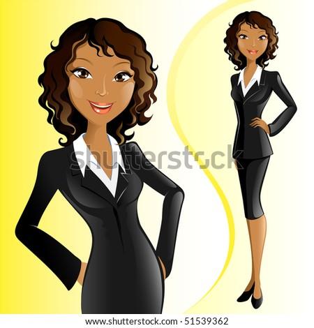 Businesswoman (African) - stock vector